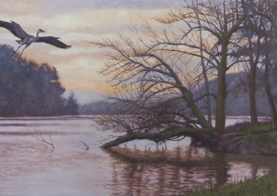 Rusty Frentner-Heron Sunset